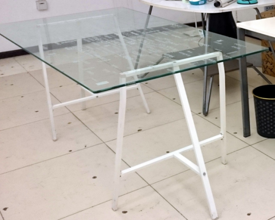 Office Furniture Ikea Desks Love Gl Table Metal Cabnets Two